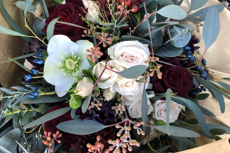 Choosing your Valentine's flowers with Harrison and Green Florist